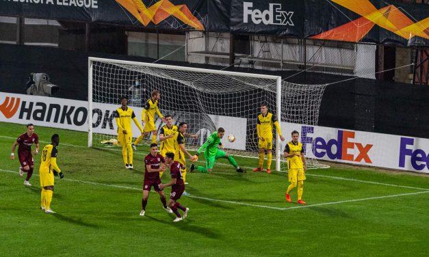 CFR Cluj – Young Boys 1-1. Clujenii rămân pe primul loc în grupa A din Europa league